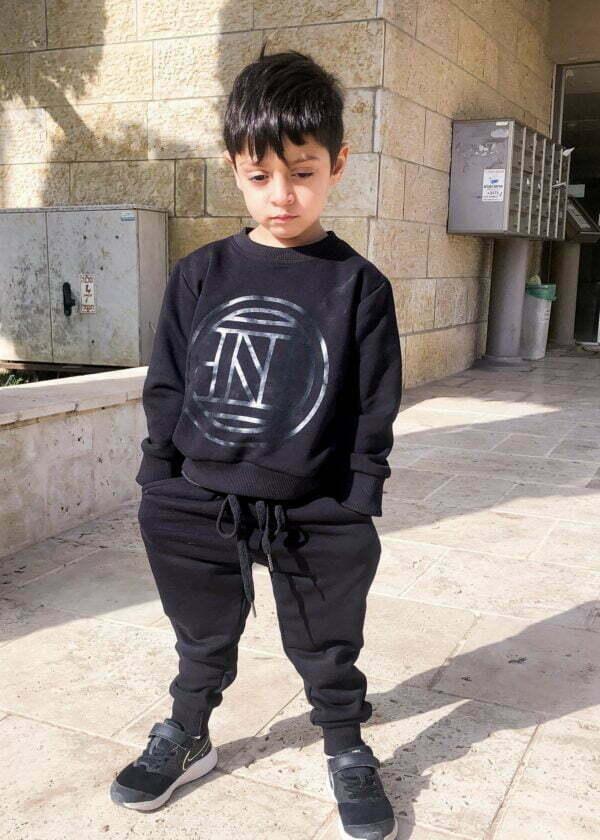 חליפת ג'ורדן טרנינג ילדים שחורה